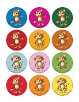 Jeu des places-Les singes