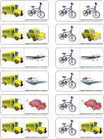 Jeu domino - Les moyens de transport