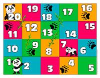 Jeu serpents et échelles-Pandas