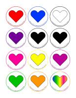 Jeux de transition-Cœurs en couleurs
