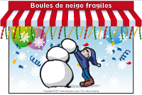 Kiosque - Boule de neige fragiles