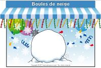 Kiosque - Boule de neige