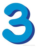 Le chiffre 3 à enfiler