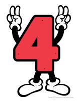 Le chiffre 4 à enfiler