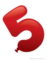 Le chiffre 5 à enfiler
