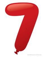 Le chiffre 7 à enfiler