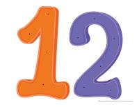 Le nombre 12 à enfiler