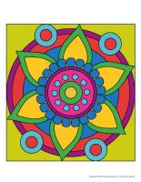 Les mandalas de sable colorés