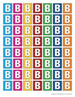 Lettre B miniatures