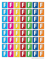 Lettre F miniatures