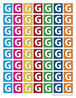 Lettre G miniatures