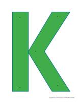 Lettre K à enfiler