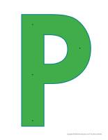 Lettre P à enfiler motricité activité