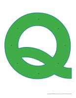 Lettre Q à enfiler