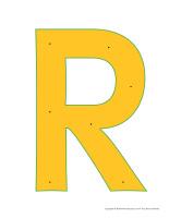 Lettre R à enfiler