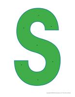 Lettre S à enfiler
