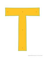Lettre T enfiler