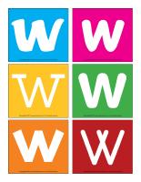 Lettre W en couleurs-2