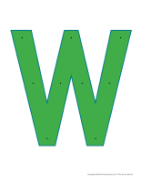 Lettre W enfiler