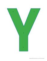 Lettre Y à enfiler