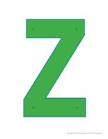 Lettre Z à enfiler