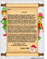 Lettre explicative du père Noël