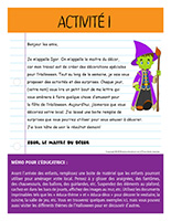 Lettre thématique-Halloween-Les décorations-Activité-1