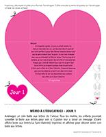 Lettre thématique-La Saint-Valentin Surprises-Jour 1