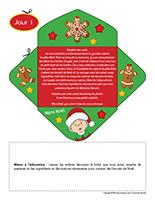 Lettre thematique-Noel-La cuisine-Jour 1