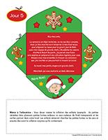 Lettre thematique-Noel-La cuisine-Jour 5