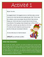 Lettre thématique Noël-Les décorations-Activité-1