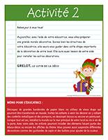 Lettre thématique-Noël-Les décorations-Activité 2