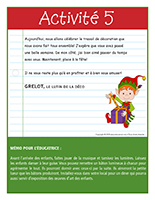 Lettre thématique Noël-Les décorations-Activité-5