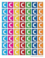 Lettres C miniatures