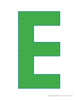 Lettres E à enfiler