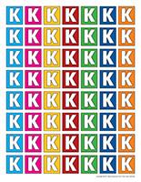 Lettres K miniatures