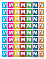 Lettres M miniatures