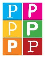 Lettres P en couleurs jeux décoration activité