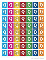 Lettres Q miniatures