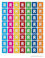 Lettres R miniatures