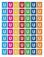 Lettres U miniatures