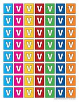 Lettres V miniatures