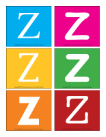 Lettres Z en couleurs