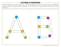 Lettres à pompons-1