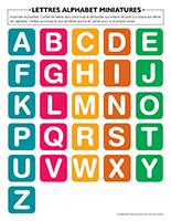 Lettres alphabet-miniatures