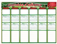 Liste absence - Temps des fêtes 2010