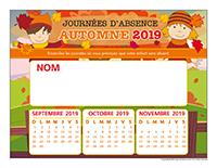 Liste des absences-Automne-2019-1 enfant