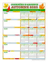 Liste des absences-Automne 2020-6 enfants