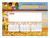 Liste des absences-Automne 2021-1 enfant