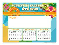 Liste des absences-Été 2019-1-enfant